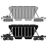 Railway carriage for bulk cargo