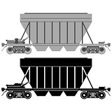 Railway carriage for bulk cargo-1