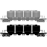 Railway carriage for bulk cargo-3