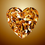 Yellow Diamond Heart
