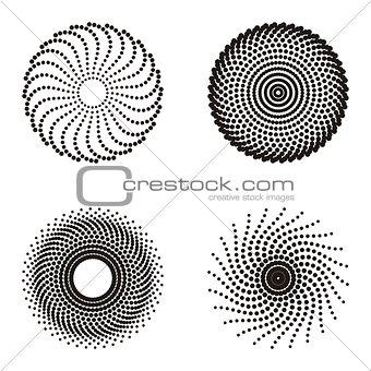 Circle halftone design