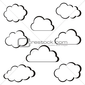 Black clouds outline