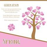Spring season card