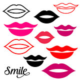 Woman lips