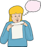 Isolated Woman Reading Letter