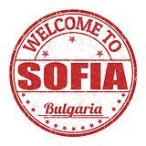 Welcome to Sofia stamp