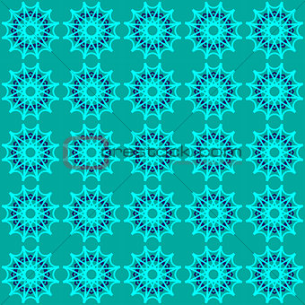 Green abstract geometric seamless pattern