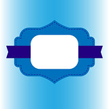 decorative blue frame for text