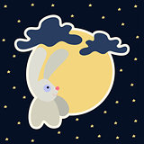 Moon rabbit of Mid Autumn Festival. Chuseok