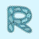 Cute letter R. Floral monogram R
