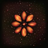 Fire flame flower or abstract space background