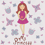 My princess. Cute romantic shower card