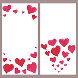 Business banners with watercolor hearts