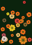 Floral abstract background green color