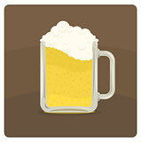Vector illustration of beer mug