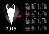 Vector American calendar 2015 with elegant suit