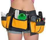 Woman in tool belt