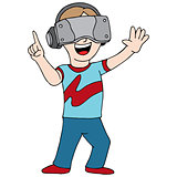 Virtual Reality Video Gamer