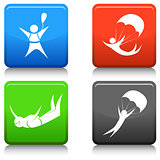 Skydiving Icon Set
