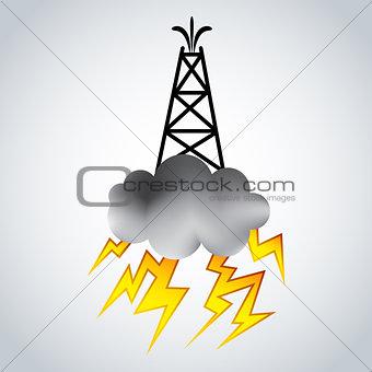 Fracking Oil Rig Symbol