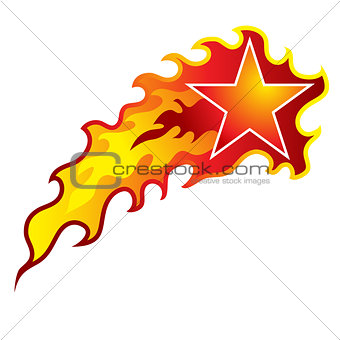 Flaming Shooting Star