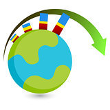 Global Growth Icon