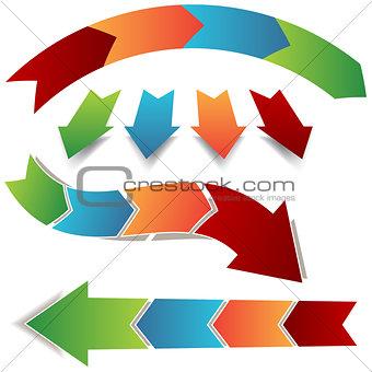 Arrow Process Icons