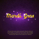 Mardi Gras beauty background