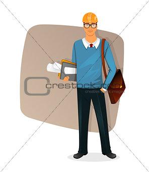 Architect man character image