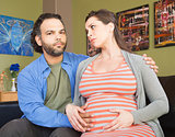 Anxious Pregnant Couple