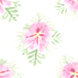 Seamless pattern with vector gentle watercolor flower