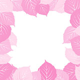 Pink leaves frame