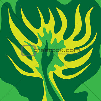 Abstract green tree green color