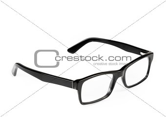 black eye glasses isolated