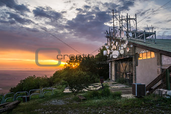 Old Lift at Sunset