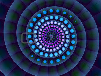 Abstract  blue spiral background