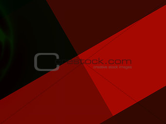 Abstract artistic geometric presentation