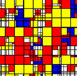 Abstract geometric colorful square pattern