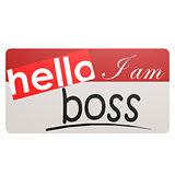 I am boss nametag