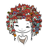 City girl concept for your design