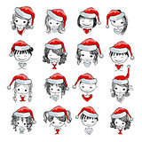 Santa girl collection, sketch for your design