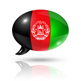 Afghan flag speech bubble