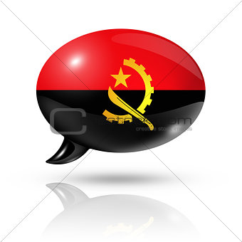 Angolan flag speech bubble