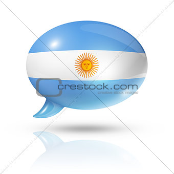 Argentinian flag speech bubble