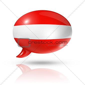 Austrian flag speech bubble