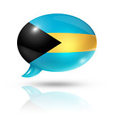 Bahamian flag speech bubble