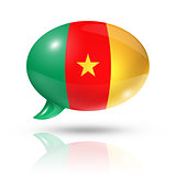 Cameroonian flag speech bubble