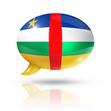 Central African Republic flag speech bubble
