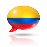 Colombian flag speech bubble