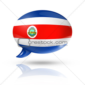 Costa Rican flag speech bubble